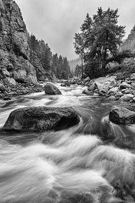 Creek Photograph - Colorado Black And White Canyon Portrait by James BO  Insogna