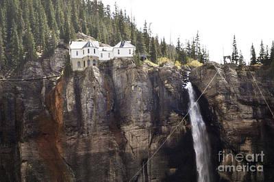 Photograph - Colorado Bridal Veil Falls Mountain Landscape by Andrea Hazel Ihlefeld