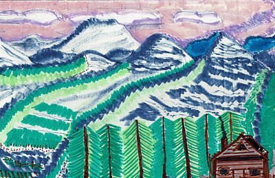 Colorado Cabin Art Print
