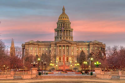 Print featuring the photograph Colorado Capital by Gary Lengyel