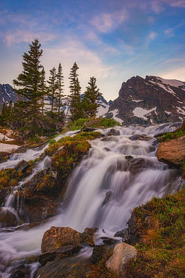 Mountain Royalty-Free and Rights-Managed Images - Colorado Cascading Waters by Darren White