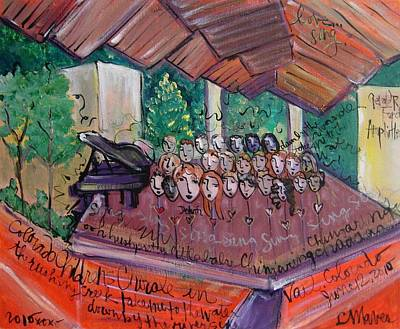 Painting - Colorado Childrens Chorale by Laurie Maves ART