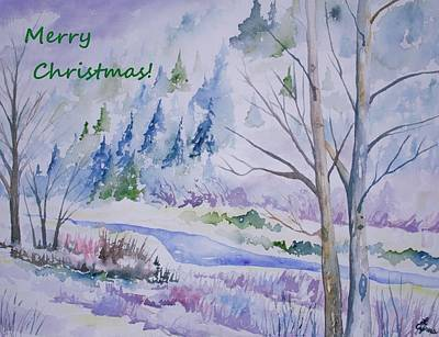 Painting - Colorado Clear Creek Christmas by Cascade Colors