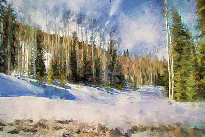 Park Scene Painting - Colorado Color Splash 3 Landscape Art By Jai Johnson by Jai Johnson