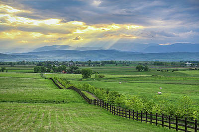 Photograph - Colorado Country Fence To The Rockies by James BO Insogna