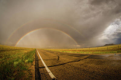 Photograph - Colorado Double Rainbow by Chris Bordeleau