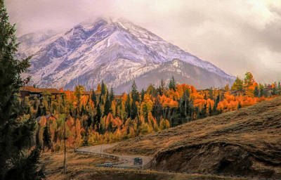 Painting - Colorado Drive In Autumn by Dan Sproul