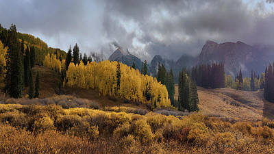Digital Art - Colorado Fall Colors 2 by OLena Art Brand