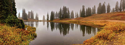 Digital Art - Colorado Fall Colors Panorama by OLena Art Brand