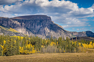 Photograph - Colorado Fall Landscape With Aspen Trees Between Creede And Lake by John Brink