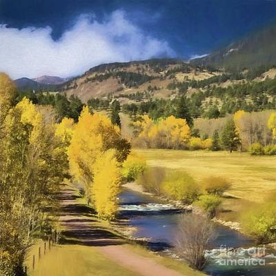 Painting - Colorado Fall Mountains by Steven Parker