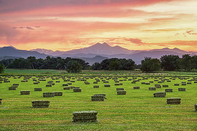 Photograph - Colorado Farmers Burning Sunset by James BO Insogna