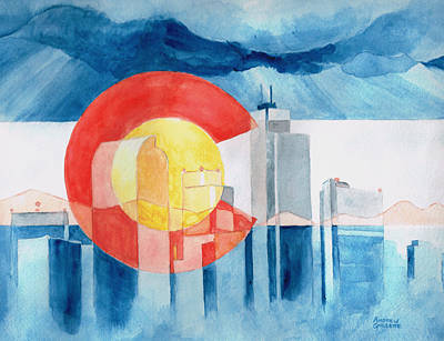 Painting - Colorado Flag by Andrew Gillette