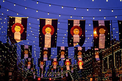 Photograph - Colorado Flags On Larimer Square Denver by Teri Virbickis
