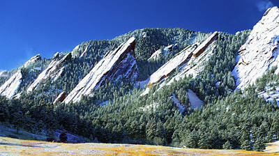 All Fivecolorado Flatirons Art Print by Marilyn Hunt
