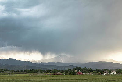 Photograph - Colorado Front Range Lightning And Rain by James BO Insogna