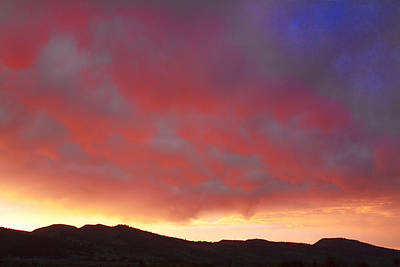 Book Quotes - Colorado Front Range Rocky Mountains Foothills Sunset by James BO Insogna