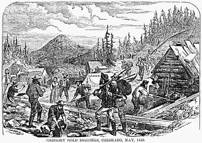 Colorado: Gold Mining, 1859 Art Print by Granger