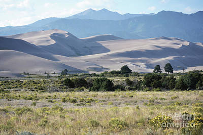 Photograph - Colorado Great Sand Dunes Mountain Countryside by Andrea Hazel Ihlefeld