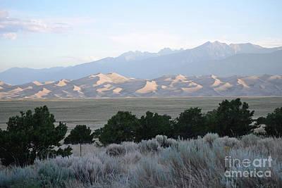 Photograph - Colorado Great Sand Dunes Sunrise Landscape by Andrea Hazel Ihlefeld