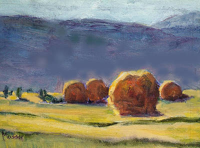 Painting - Colorado Hay Bales by Jill Musser