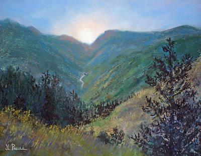 Colorado Highway Art Print by Linda Preece