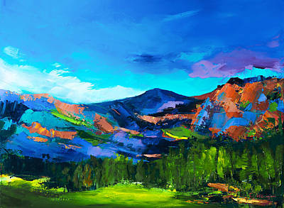 San Juan Mountains Painting - Colorado Hills by Elise Palmigiani