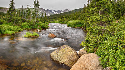 Photograph - Colorado Indian Peaks Wilderness Creek Panorama by James BO  Insogna