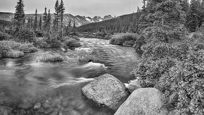 Photograph - Colorado Indian Peaks Wilderness Panorama Bw by James BO  Insogna