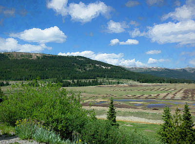 Digital Art - Colorado Landscape by Susan Stone