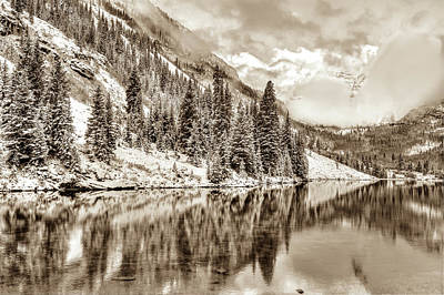Photograph - Colorado Living In Sepia - Maroon Bells by Gregory Ballos