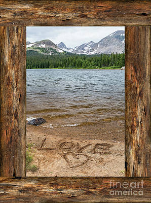 Photograph - Colorado Love Window  by James BO Insogna