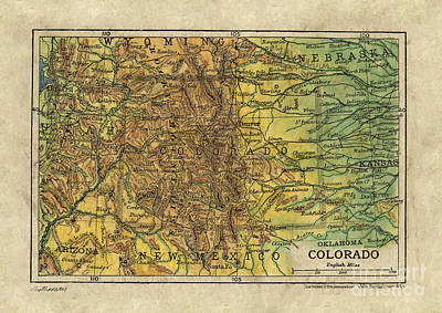 Painting - Colorado Map by Lisa Middleton