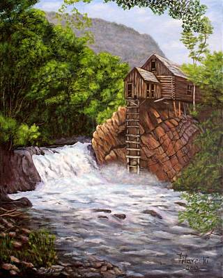 Art Print featuring the painting Colorado Mill by Judy Filarecki