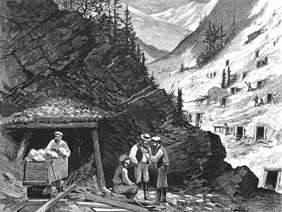 1874 Photograph - Colorado: Mining, 1874 by Granger