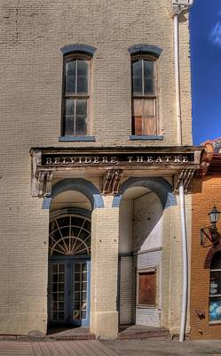 Photograph - Belvidere Theatre by Dave Rennie