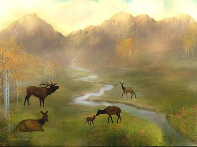 Digital Art - Colorado Mountain Meadow by Joan Scarbrough