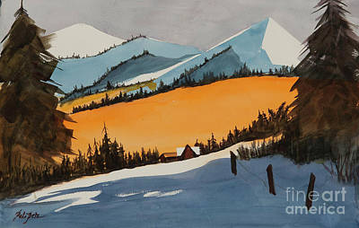 Painting - Colorado Mountain Scene by Pati Pelz