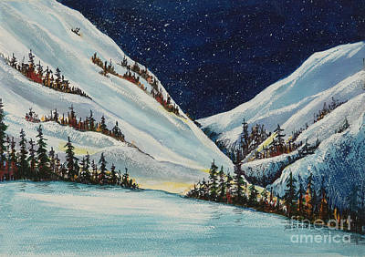 Painting - Colorado Mountain Snow by Pati Pelz