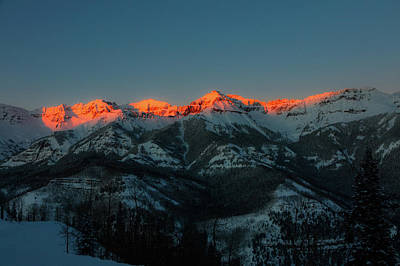 Photograph - Colorado Mountain Sunset by L O C