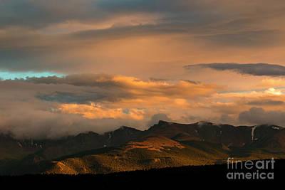 Photograph - Colorado Mountain Sunset by Steve Krull