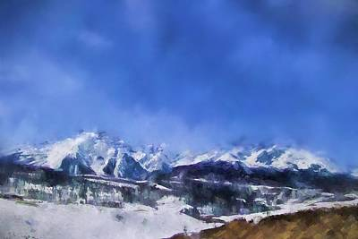 Pikes Peak Painting - Colorado Mountains 1 Landscape Art By Jai Johnson by Jai Johnson