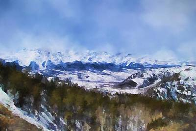 Pikes Peak Painting - Colorado Mountains 3 Landscape Art By Jai Johnson by Jai Johnson