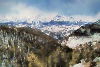 Pikes Peak Painting - Colorado Mountains 4 Landscape Art By Jai Johnson by Jai Johnson