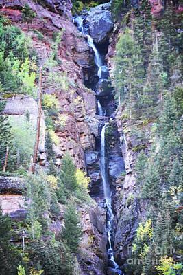 Photograph - Colorado Narrow Waterfall by Andrea Hazel Ihlefeld