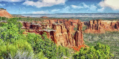 Digital Art - Colorado National Monument 1 by Digital Photographic Arts