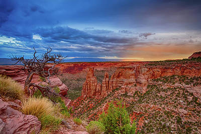 Photograph - Colorado National Monument Evening Storms by James BO Insogna