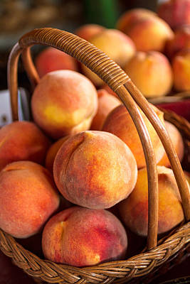 Photograph - Colorado Peaches In Basket by Teri Virbickis
