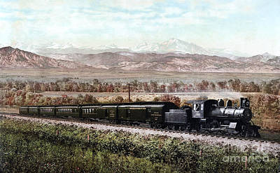 Photograph - Colorado, Railroad, C1900.  by Granger