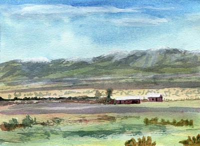 Colorado Ranch In North Park Art Print